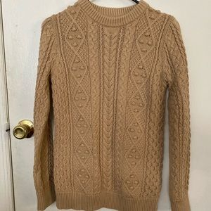 Zara cable knit tan sweater size S